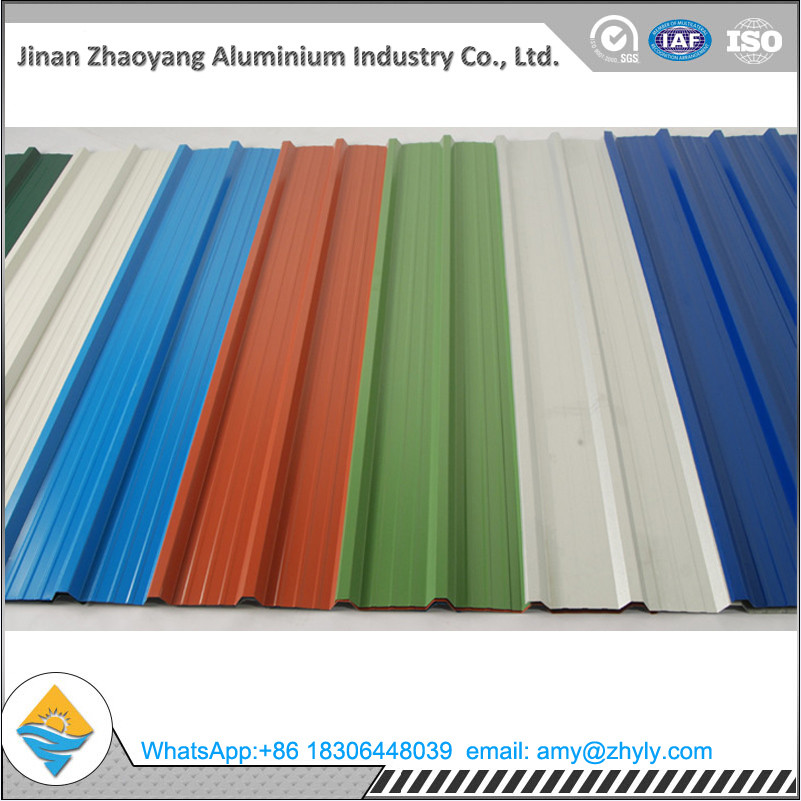 5052 1.2mm corrugated roofing sheet/ Wave Tile aluminum plate