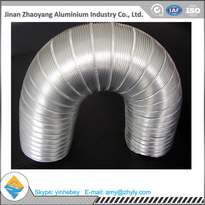 Aluminum Foil Semi - Rigid Corrugated Pipe / Aluminum Foil Ventilation Pipe
