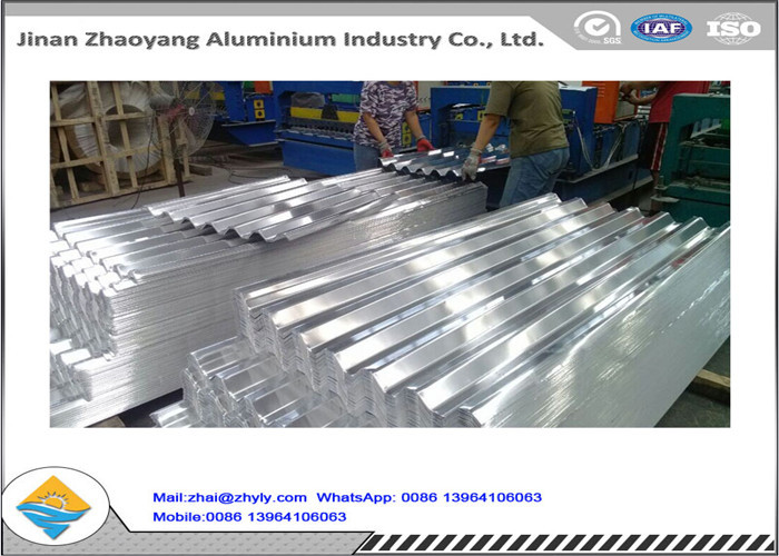 Corrugated Aluminum Ridge Tile Embossed Aluminium Sheet 0.5 mm Thickness
