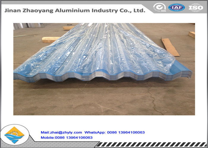 Color Coated Corrugated Aluminum Sheet / Zinc Aluminum Roofing Sheet 0.8mm Thickness